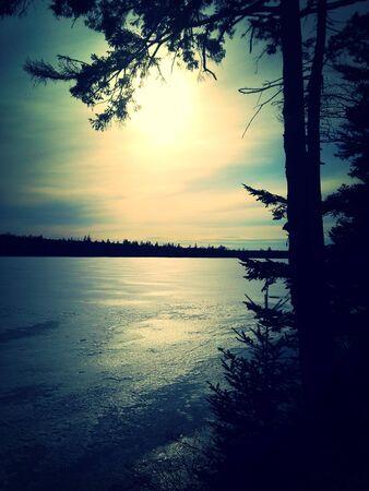 Winter lake Stockfoto