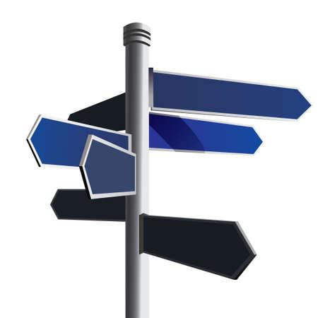 Blank signpost,Vector