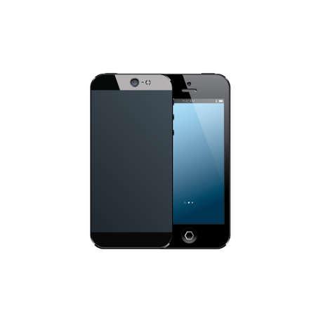 Realistic black mobile phone Stock Vector - 26049680