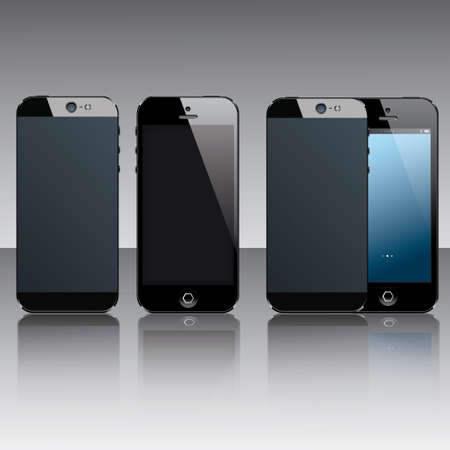 Black mobile phones Vector