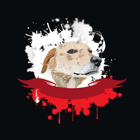 tete chien: Illustration dr�le de chien t�te Illustration