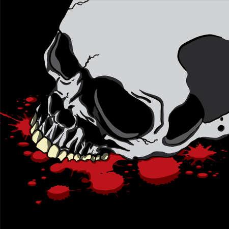 lowbrow: Bleeding Human Skull