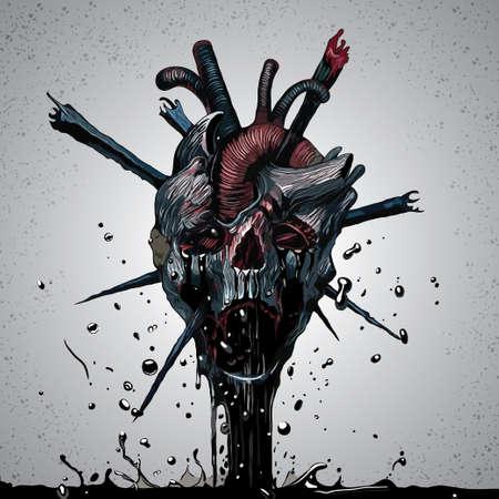 demonio: cráneo de la muerte