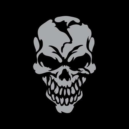 crossbones: Smiling skull