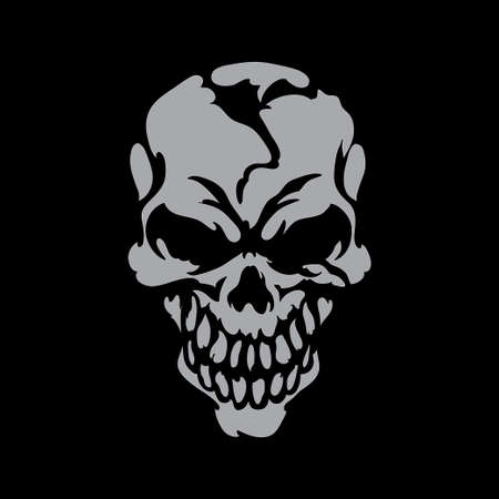 Smiling skull