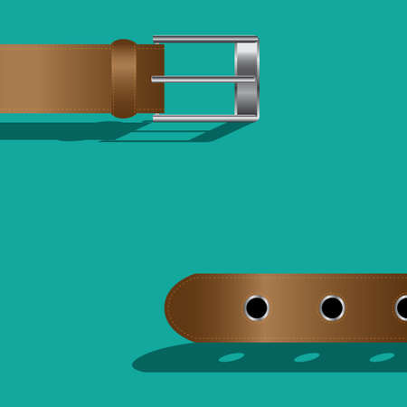 leather belt: Brown leather belt