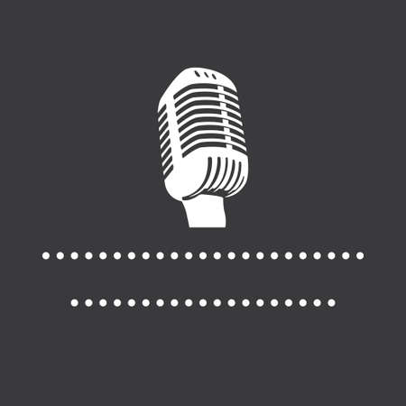 audiences: Microphone Icon sign - Vector