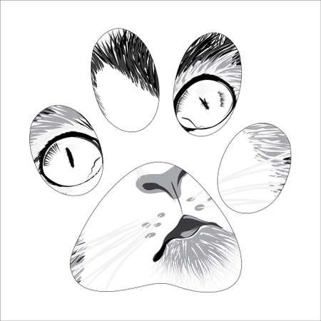 beautiful sketch silhouette animal trail. Vector illustration Stock Illustratie