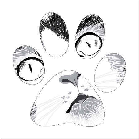 beautiful sketch silhouette animal trail. Vector illustration Illustration