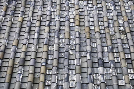 A traditional style brick tile roof in Lijiang, China Stock Photo - 10828055