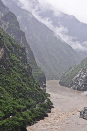 Famoust tiger leaping gorge in yunnan, china Editorial