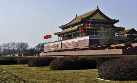 The main entrance to the forbidden city in Beijing, China Editorial
