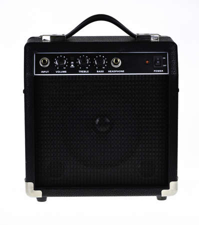 Guitar amp or amplifier isolated on white background. Stock Photo - 10828447