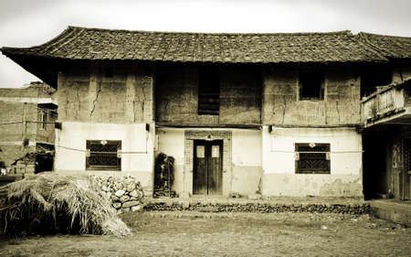 An old farmhouse in a small village in China Editorial