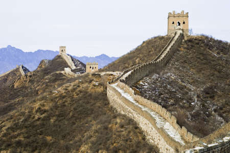 A empty section of the great wall of China in Winter photo