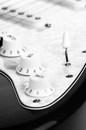 Detail of electric red and white guitar Stock Photo - 10865666