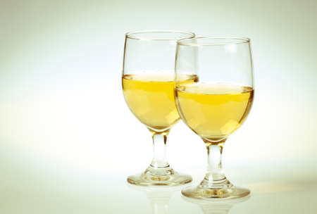 aligote: Glass of white wine Isolated on a white background.