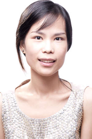 young asian female in portrait beauty shot