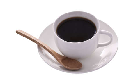 Cup of coffee isolated on the white background