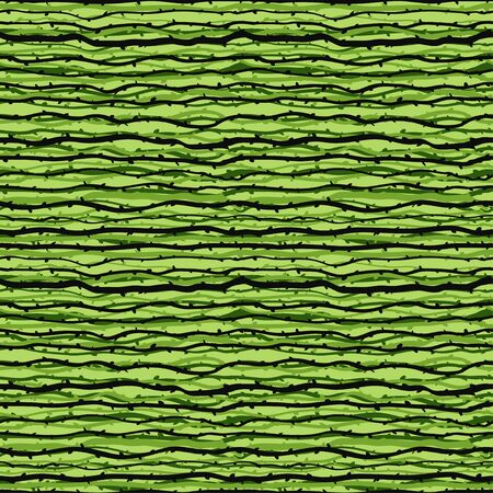 Branches forest horizontal seamless pattern in green color palette.Vector seamless pattern design for textile, fashion, paper and wrapping