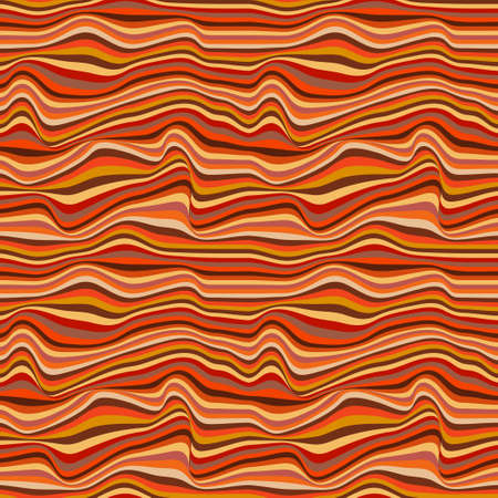 Sandstone colorful waves pattern inspired on canyon rocks. Vector seamless pattern design for textile, fashion, paper and wrapping.