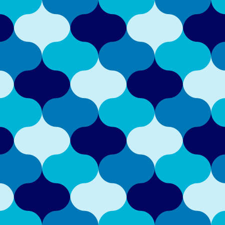 Abstract blue shades ornament repeat pattern. Vector seamless pattern design for textile, fashion, paper and wrapping.