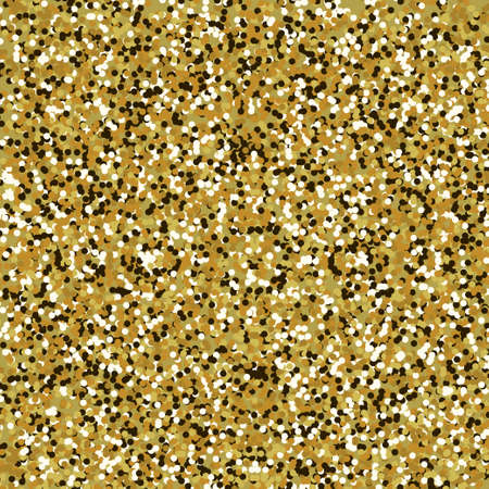 Glitter vector texture in gold color. Shiny texture for celebrations and seasonal designs