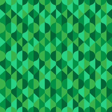 Abstract nature inspired pattern in green shades. Vector seamless pattern design for textile, fashion, paper and wrapping.