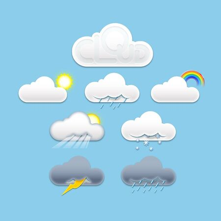 Weather icons Stock Vector - 16712607
