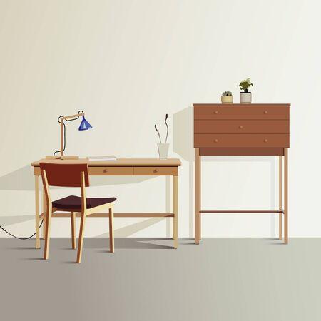 work table: Workroom Illustration