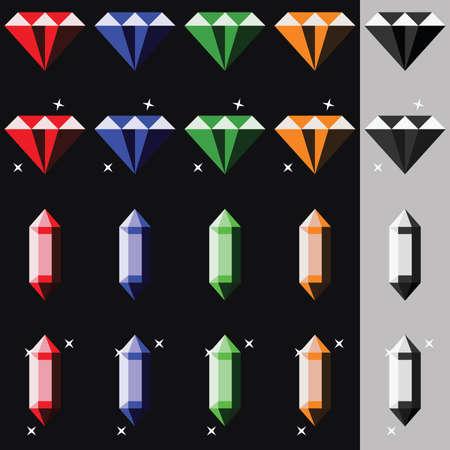 Pak van Gems in verschillende vormen en kleuren