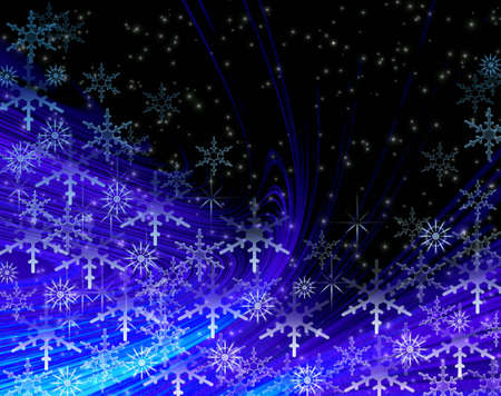 snowstorm: Christmas snowstorm. Abstract