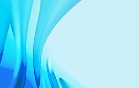 gray matter: Blue wavy background