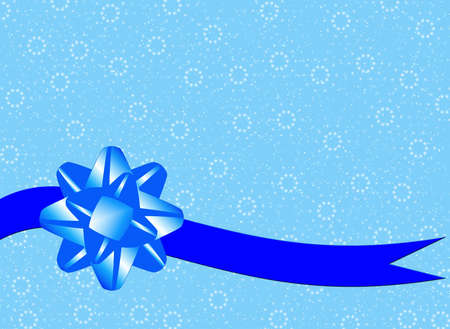 Bluebackground with blue bow photo