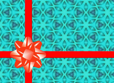 Xmas background with red bow photo