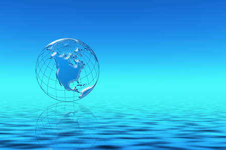 Blue water planet Stock Photo - 586967