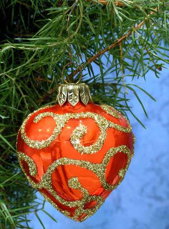 Chrismas tree with toy-heart Stock Photo - 602937