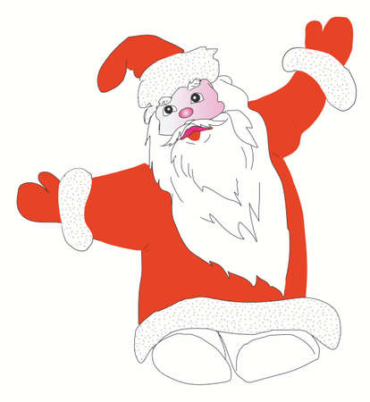 Christmas  Santa Claus, isolated on white photo