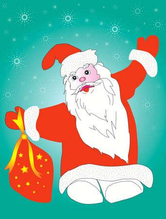 Christmas  Santa Claus with presents photo