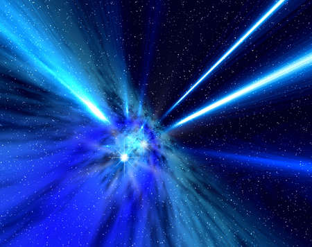 Abstraction space rays Stock Photo - 609527