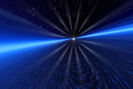 Space rays Stock Photo