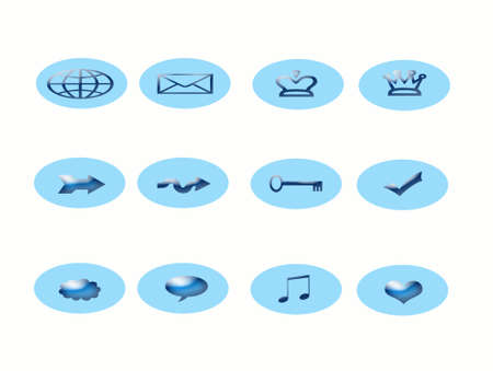 Blue Icons Stock Photo - 613875