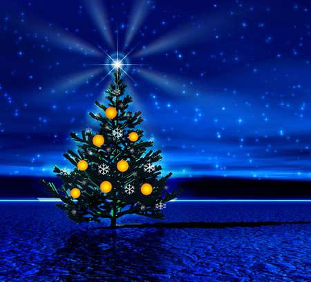 Night. Christmas tree Stock Photo - 613872