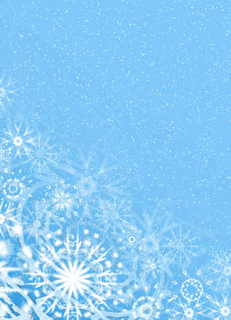 Blue fine snow background