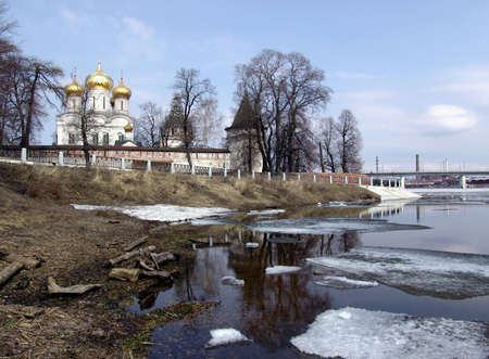synod: Ipatievsky  monastery on Volga Stock Photo