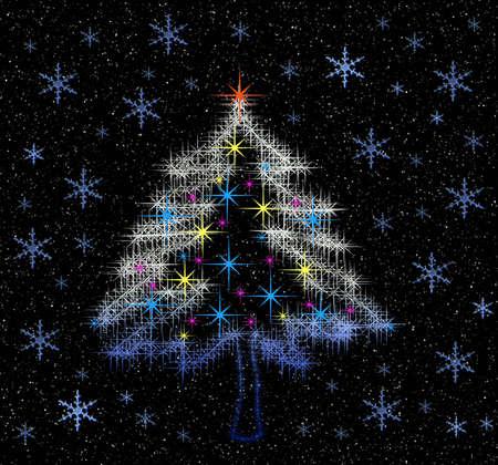 Night. Light of Christmas tree Stock Photo - 623586