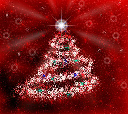 Christmas tree and snowflakes Stock Photo - 623566