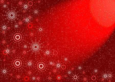 Christmas red background. Magic light Stock Photo