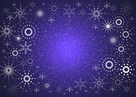 Christmas background. Blue magic snowflakes Stock Photo - 623554