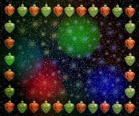 Christmas frame . Color light Stock Photo - 641522